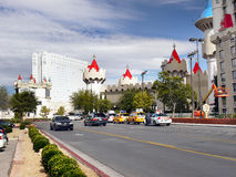 Las Vegas, Nevada, Excalibur hotel i kasyno, - Obraz Stock