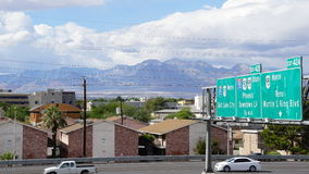 Las Vegas, Nevada freeway Royalty Free Stock Images