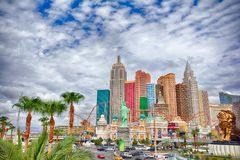 New York New York hotel and casino in Las Vegas stock images