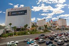 Exterior of Tropicana Hotel in Las Vegas strip, Nevada. Las Vegas, Nevada - May 28, 2018 : Exterior of Tropicana Hotel in Las Vegas strip, Nevada Stock Photos