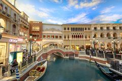 The Grand Canal Shoppes at Venetian Hotel and Casino, South Las Vegas Boulevard. Las Vegas, Nevada - May 27, 2018 : The Grand Canal Shoppes at Venetian Hotel and Royalty Free Stock Images