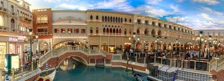 The Grand Canal Shoppes at Venetian Hotel and Casino, South Las Vegas Boulevard. Las Vegas, Nevada - May 27, 2018 : The Grand Canal Shoppes at Venetian Hotel and Stock Photos