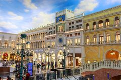 The Grand Canal Shoppes at Venetian Hotel and Casino, South Las Vegas Boulevard. Las Vegas, Nevada - May 27, 2018 : The Grand Canal Shoppes at Venetian Hotel and Stock Images