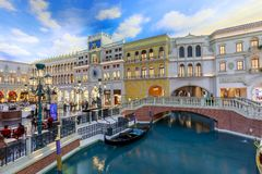 The Grand Canal Shoppes at Venetian Hotel and Casino, South Las Vegas Boulevard stock photo