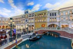 The Grand Canal Shoppes at Venetian Hotel and Casino, South Las Vegas Boulevard. Las Vegas, Nevada - May 27, 2018 : The Grand Canal Shoppes at Venetian Hotel and Stock Photo