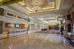 Interior of Bellagio, a resort, luxury hotel and casino on the Las Vegas Strip. Las Vegas, Nevada - May 28, 2018 : Interior of Bellagio, a resort, luxury hotel royalty free stock photo