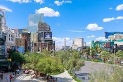 New York-New York Hotel and Casino, Las Vegas Strip in Paradise, Nevada, United States. Las Vegas, Nevada - May 28, 2018 : New York-New York Hotel and Casino Royalty Free Stock Photos