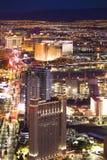 Las Vegas Nevada nocy pejzaż miejski fotografia royalty free
