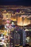 Las Vegas Nevada nocy pejzaż miejski zdjęcia royalty free