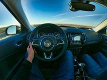 Las Vegas, Nevada, S.U.A., 08/04/2019 che conduce un'automobile in america fotografie stock libere da diritti