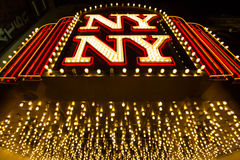 Las Vegas, Nevada - September 12, 2012: New York-New York hotel Royalty Free Stock Image