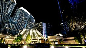 Night view from the front of Aria Resort royalty free stock photos