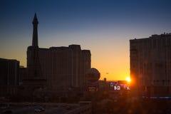 Las Vegas, Nevada - 20 septembre 2012 : Paris Las Vegas tôt dedans Photos libres de droits