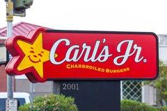LAS VEGAS NEVADA, Sierpień, - 22nd, 2016: Carl jr fasta food łańcuch Zdjęcie Stock
