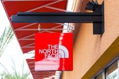 LAS VEGAS NEVADA, Sierpień, - 22nd, 2016: Północny twarz logo Na St Zdjęcia Stock
