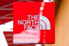 LAS VEGAS NEVADA, Sierpień, - 22nd, 2016: Północny twarz logo Na St Obrazy Royalty Free