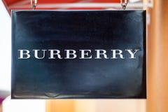 LAS VEGAS NEVADA, Sierpień, - 22nd, 2016: Burberry logo Na sklepie Fr Obraz Stock