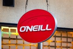 LAS VEGAS NEVADA, Sierpień, - 22nd, 2016: O'Neill logo Na sklepie Dla Fotografia Stock
