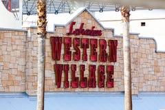 LAS VEGAS NEVADA, Sierpień, - 22nd, 2016: Szalona Ely westernu wioska Zdjęcie Stock