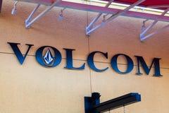 LAS VEGAS NEVADA, Sierpień, - 22nd, 2016: Volcom logo Na sklepie Fron Obraz Royalty Free