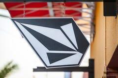 LAS VEGAS NEVADA, Sierpień, - 22nd, 2016: Volcom logo Na sklepie Fron Zdjęcia Royalty Free