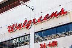 LAS VEGAS NEVADA, Sierpień, - 22nd, 2016: Walgreens znak Na Fremont Fotografia Stock