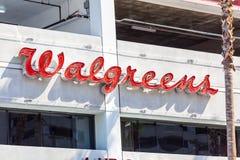 LAS VEGAS NEVADA, Sierpień, - 22nd, 2016: Walgreens znak Na Fremont Zdjęcie Royalty Free