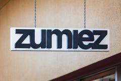 LAS VEGAS NEVADA, Sierpień, - 22nd, 2016: Zumiez logo Na sklepie Fron Obraz Royalty Free