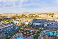Las Vegas, Nevada, Stany Zjednoczone Ameryka, Maj - 04, 2016: Arial widok Las Vegas i Las Vegas Obdzieramy Obrazy Stock