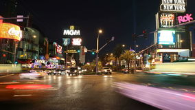 Las Vegas Nevada Traffic Night Time Lapse Royalty Free Stock Image