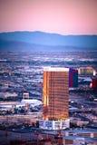 Las Vegas Nevada Trump y otros hoteles imágenes de archivo libres de regalías