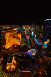 LAS VEGAS, NEVADA, USA - APRIL 22, 2015: Aerial view of Strip, stretch of 4.2 miles at Las Vegas Boulevard. The main street and home of the largest hotels and Royalty Free Stock Photos