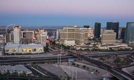 Las Vegas, Nevada/USA - April 2015.   HDR Las Vegas Skyline Pana Stock Image