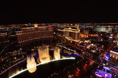 LAS VEGAS, NEVADA, USA - 22. APRIL 2015: Musikalische Brunnen an Bellagio-Hotel u. -kasino am 22. April 2015 in Las Vegas Lizenzfreie Stockfotografie