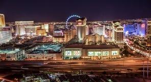 Las Vegas, Nevada/USA - April 2015.  Night Las Vegas Skyline Pan Royalty Free Stock Image