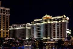 LAs VEGAS, NEVADA/USA - AUGUST 2 ; Caesar's Palace Hotel and Cas. Ino at night in Las Vegas Nevada on August 2, 2011 stock image
