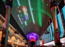 LAS VEGAS, NEVADA/USA - AUGUST 3 : The Fremont light experience Royalty Free Stock Photos