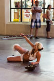 LAS VEGAS, NEVADA/USA - AUGUST 3 : Street performer in Las Vegas royalty free stock photos