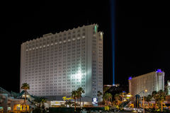 LAs VEGAS, NEVADA/USA - AUGUST 2 ; Tropicana Hotel illuminated a Stock Image