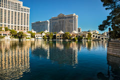 LAs VEGAS, NEVADA/USA - AUGUST 1 ; View across Bellagio lake to royalty free stock images