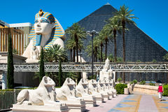LAs VEGAS, NEVADA/USA - AUGUST 1 ; View of the Luxor hotel in La Stock Images