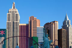 LAs VEGAS, NEVADA/USA - AUGUST 1 ; View of New York New York hot Royalty Free Stock Image