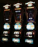 LAS VEGAS NEVADA, USA - AUGUST 18. 2009: Vintage slot machines in a Casino royalty free stock photo