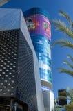 Las Vegas NEVADA/USA - AUGUSTI 1: Byggnader i Las Vegas Nevad Arkivbilder