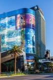 Las Vegas NEVADA/USA - AUGUSTI 1: Sikt på soluppgång av byggnader Royaltyfria Bilder