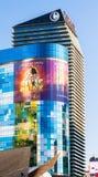 Las Vegas NEVADA/USA - AUGUSTI 1: Sikt på soluppgång av byggnader Royaltyfri Fotografi
