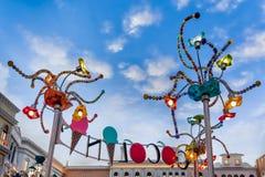 LAS VEGAS, NEVADA/USA - 2 AUGUSTUS: Arty lichten in St squa van het Teken Royalty-vrije Stock Foto's