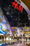 LAS VEGAS, NEVADA/USA - 2 AUGUSTUS: H&M winkel in Forum het winkelen royalty-vrije stock afbeeldingen