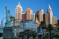 Las Vegas, NEVADA/USA - 1 AUGUSTUS; Hete mening van New York New York stock afbeeldingen
