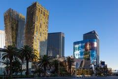 Las Vegas, NEVADA/USA - 1 AUGUSTUS; Mening bij zonsopgang van diverse ho stock fotografie